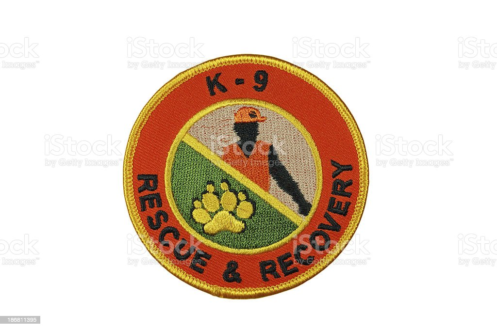 K9 Rescue and Recovery Patch royalty-free stock photo