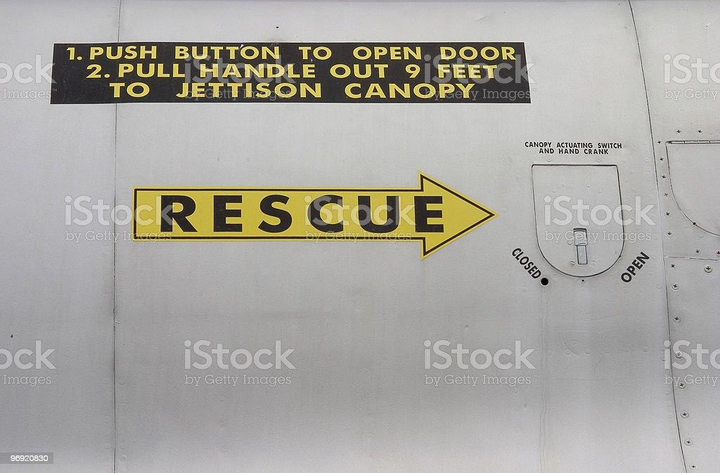 Rescue Arrow royalty-free stock photo