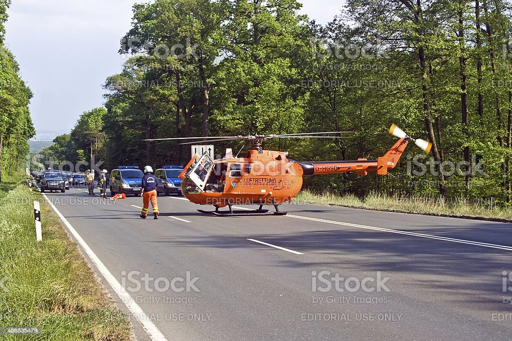 rescue by Helicopter royalty-free stock photo