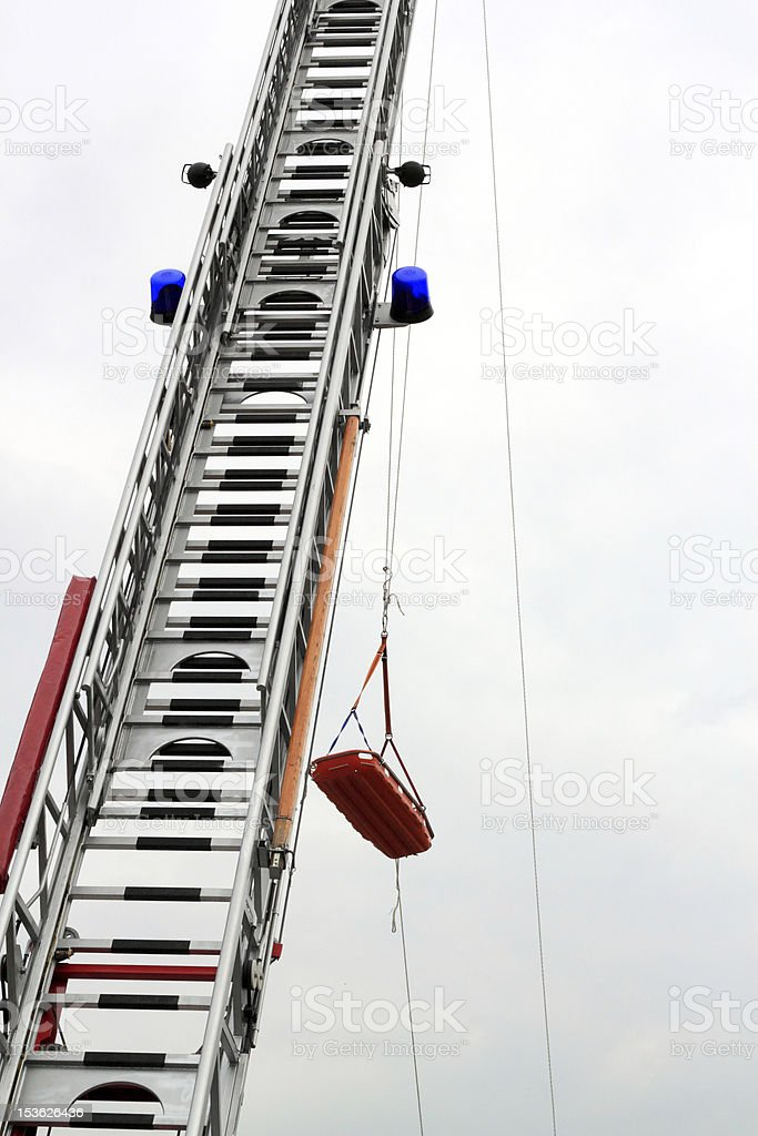 rescue from heights royalty-free stock photo