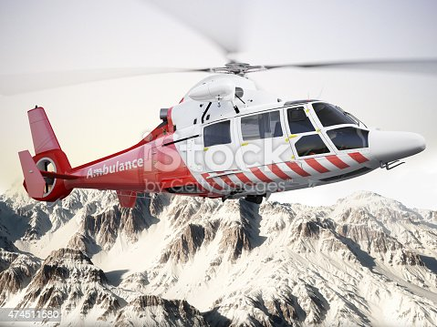 istock Rescue helicopter in flight 474511580