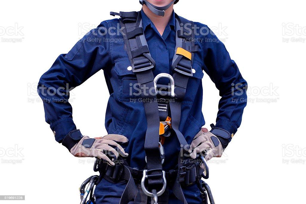 Rescue high building, equipment set  . stock photo