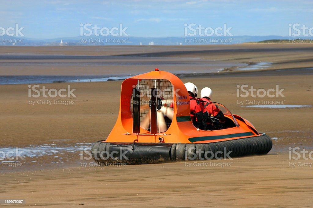 Rescue hovercraft stock photo