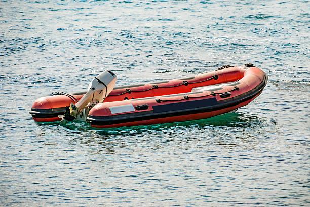 rescue inflatable rubber boat - livbåt bildbanksfoton och bilder