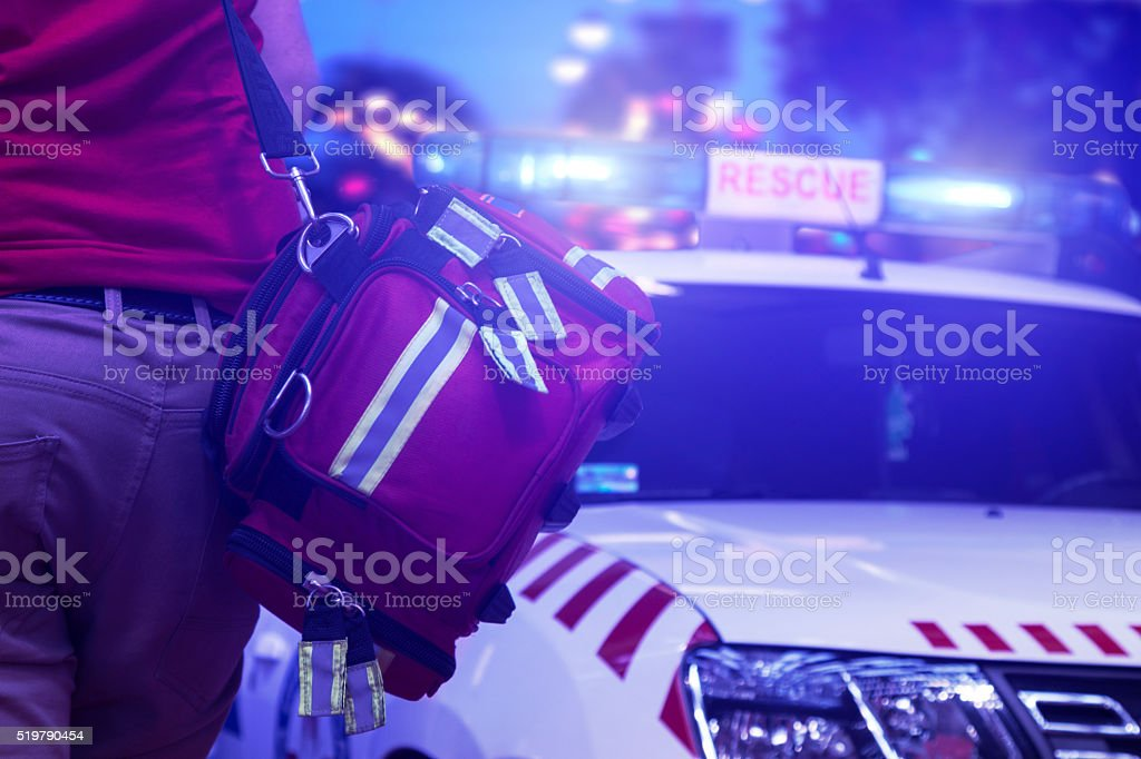 Rescue public service in action stock photo