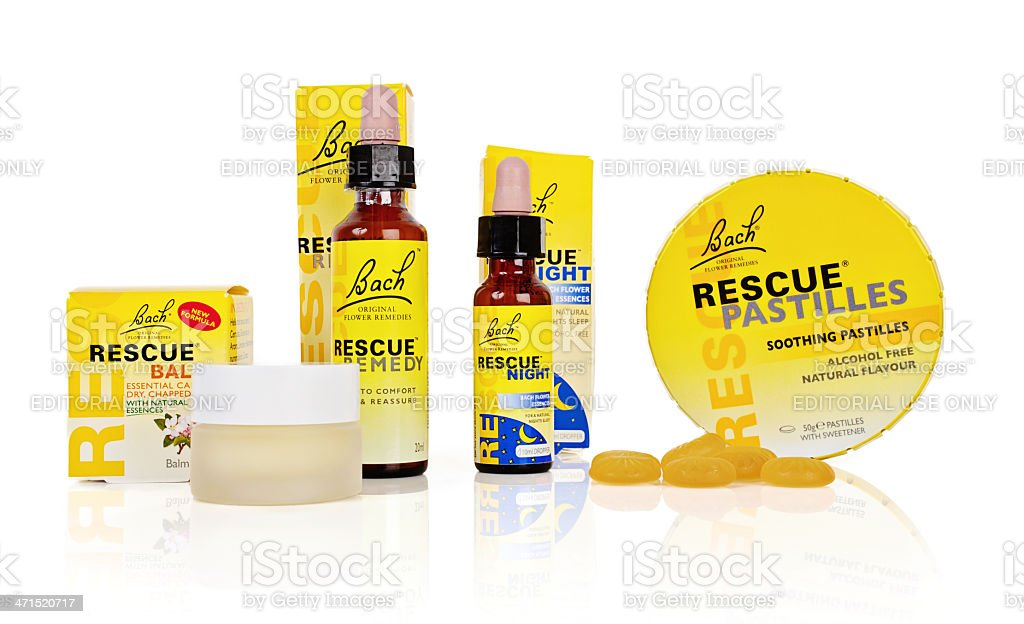 Rescue Remedy Products by Bach royalty-free stock photo