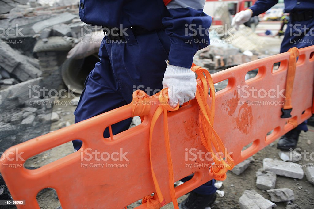 rescue stretcher stock photo