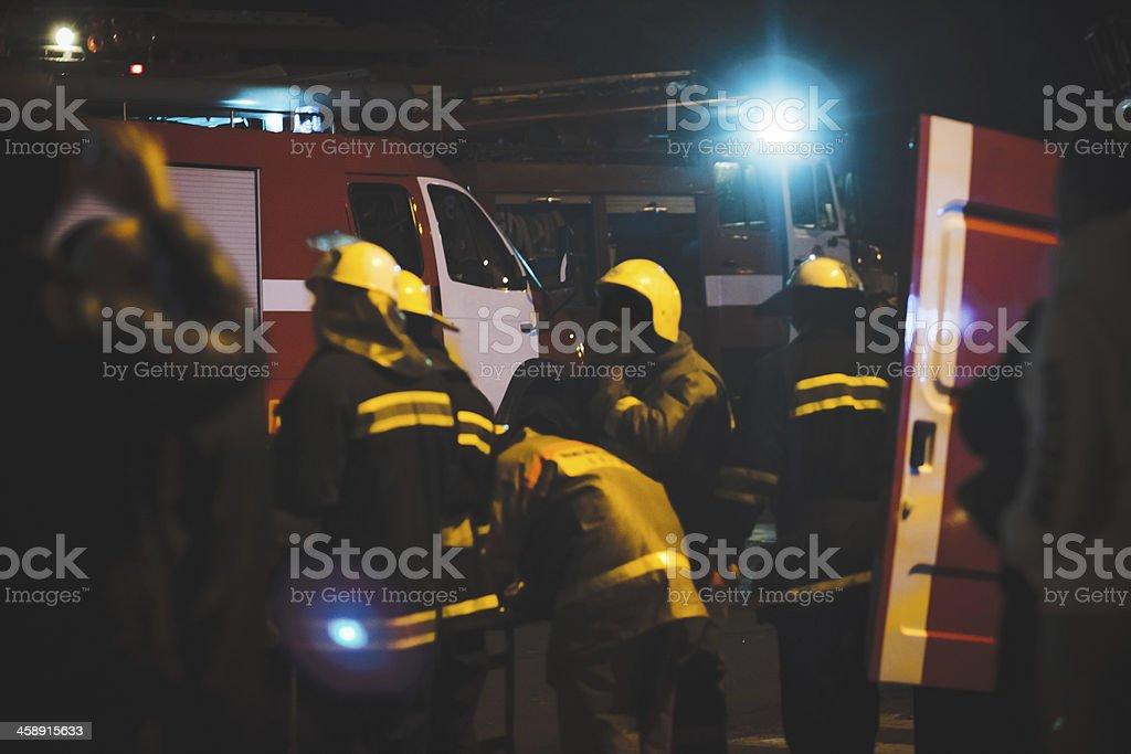 rescue team royalty-free stock photo