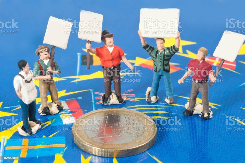rescue the euro - Eurorettung stock photo