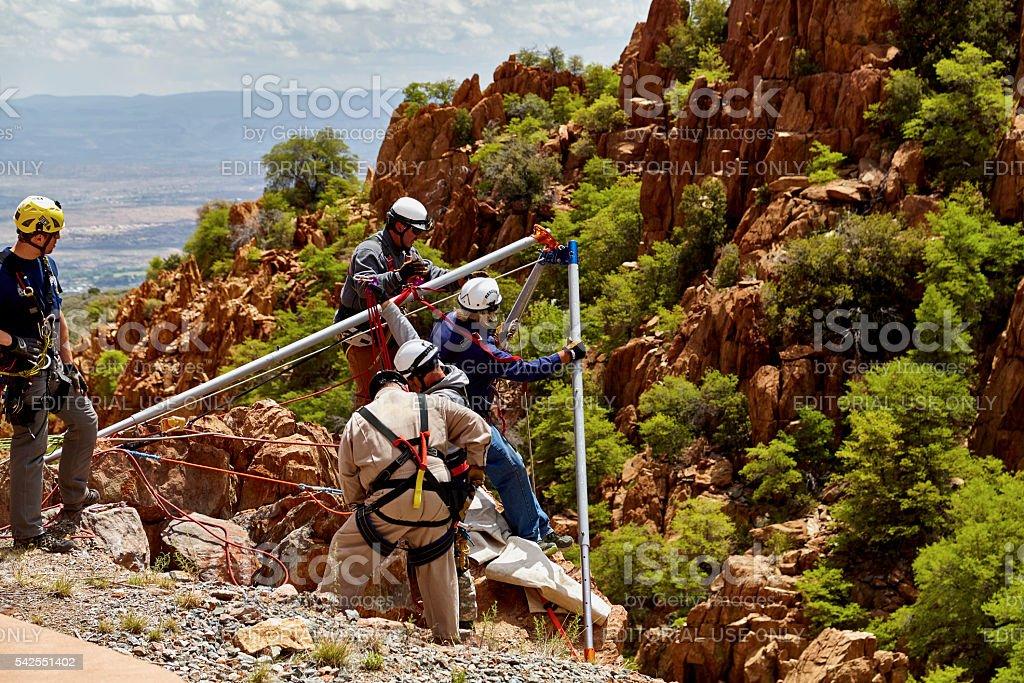 Mingus Mountain, Arizona, USA - May 6, 2016: Jerome, Arizona...