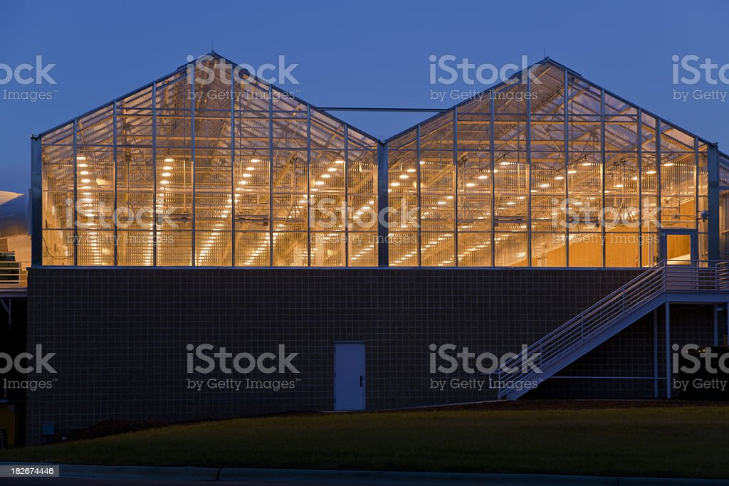 Research Greenhouse stock photo