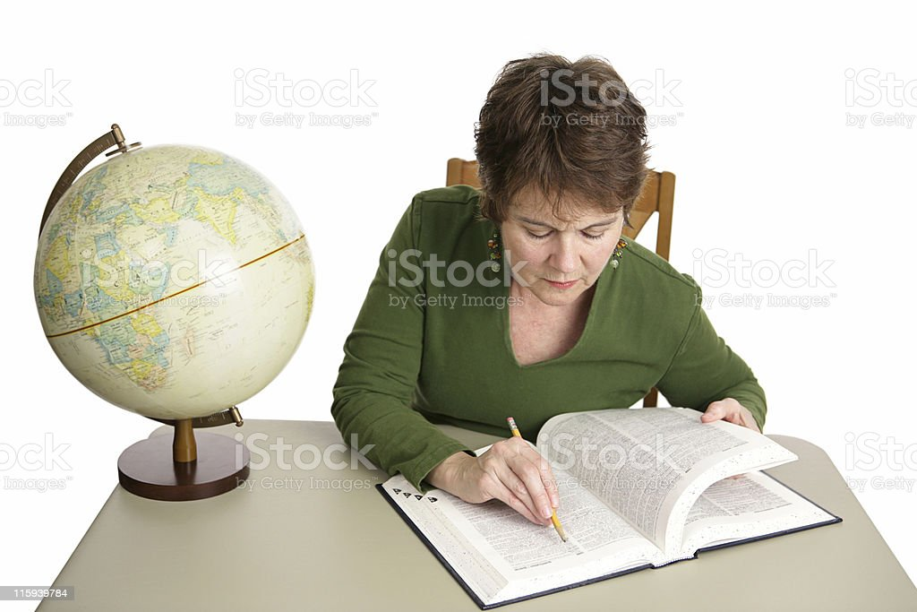 Research in Library royalty-free stock photo