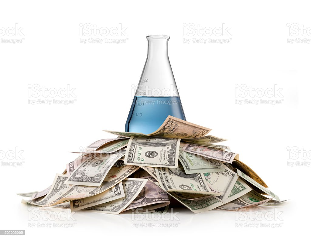 Research investment royalty-free stock photo