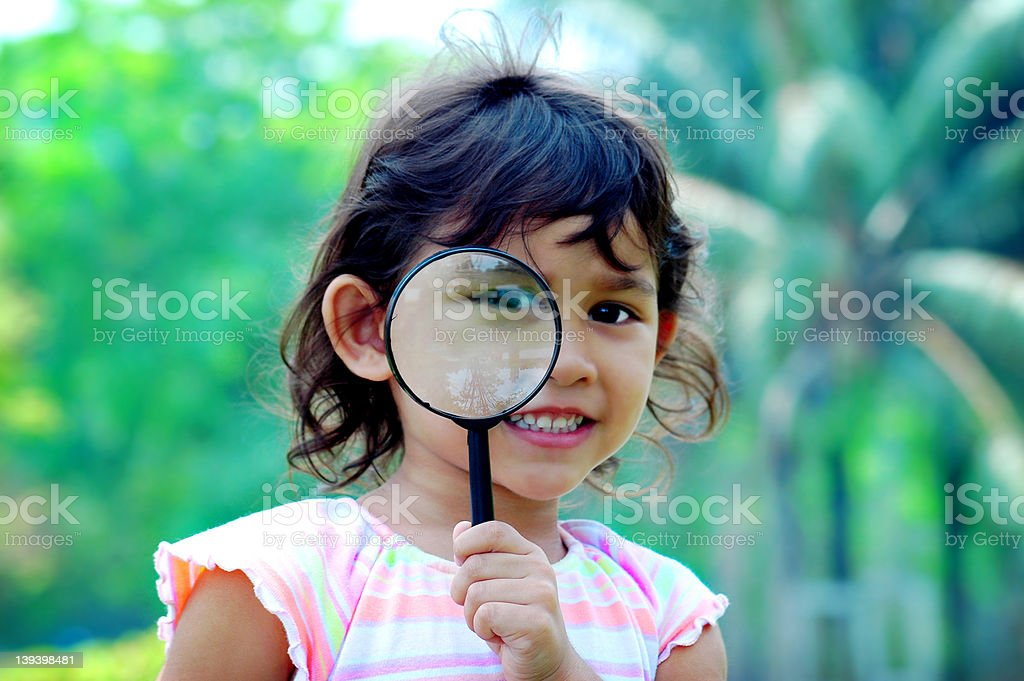 Research kid royalty-free stock photo