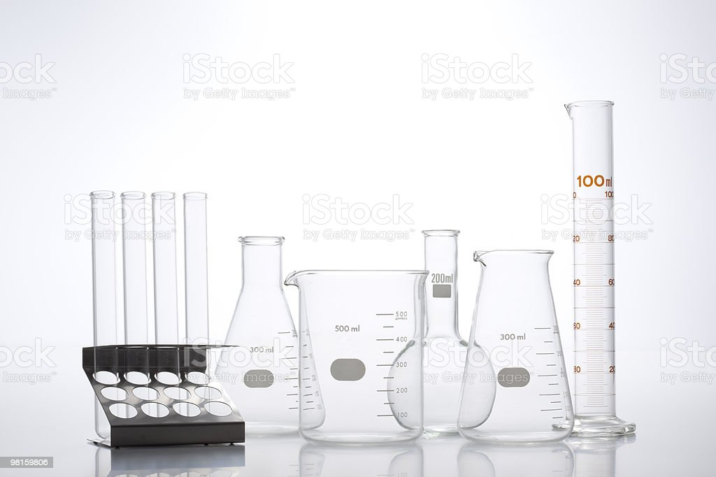 research laboratory glassware royalty-free stock photo
