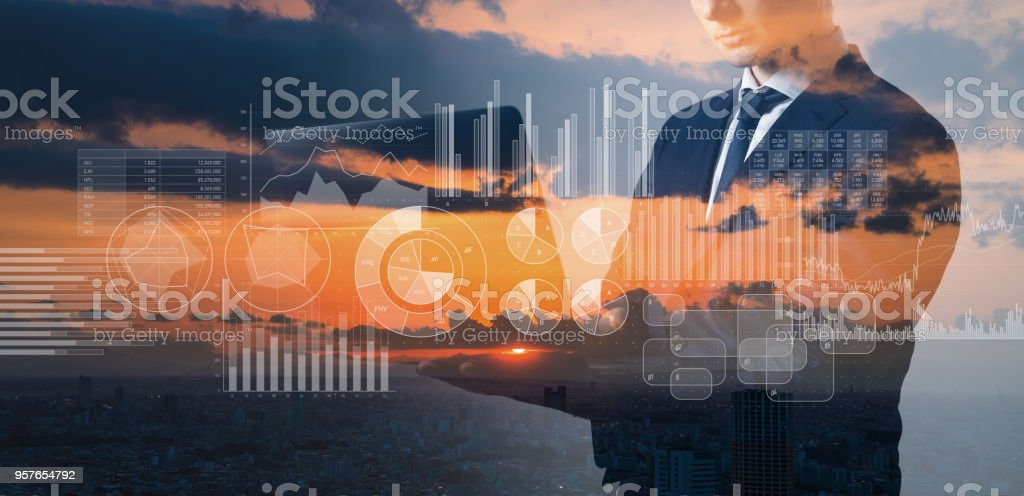 Research of business. Business information concept. stock photo