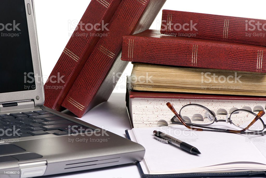 Research paper royalty-free stock photo