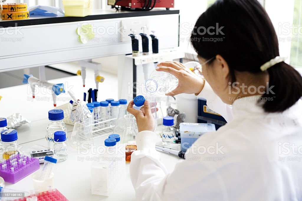DNA research royalty-free stock photo