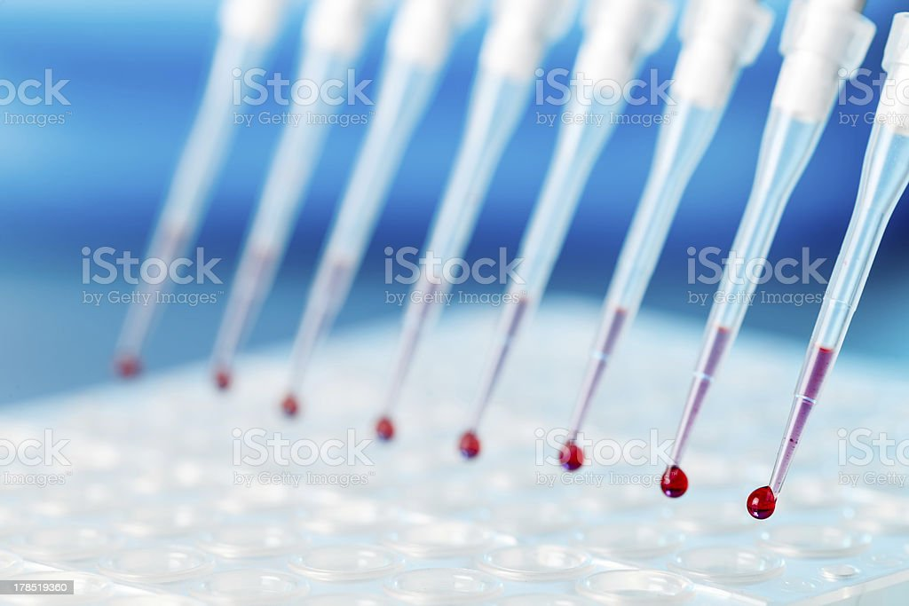 DNA research stock photo