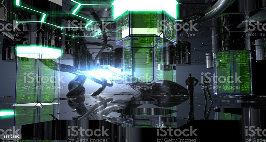 Research Platform of The Future stock photo