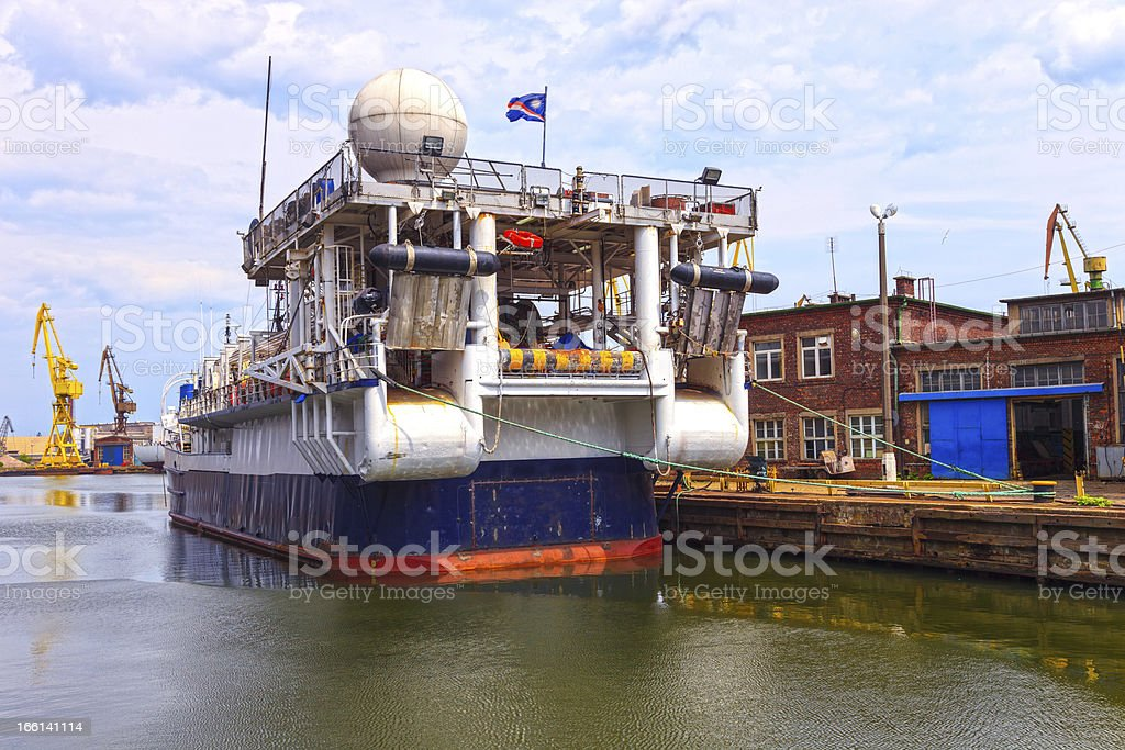 Research Ship royalty-free stock photo