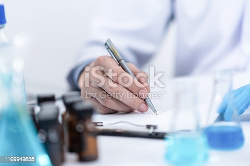 istock Researcher in the laboratory Studying with chemicals And microscopes 1169949835