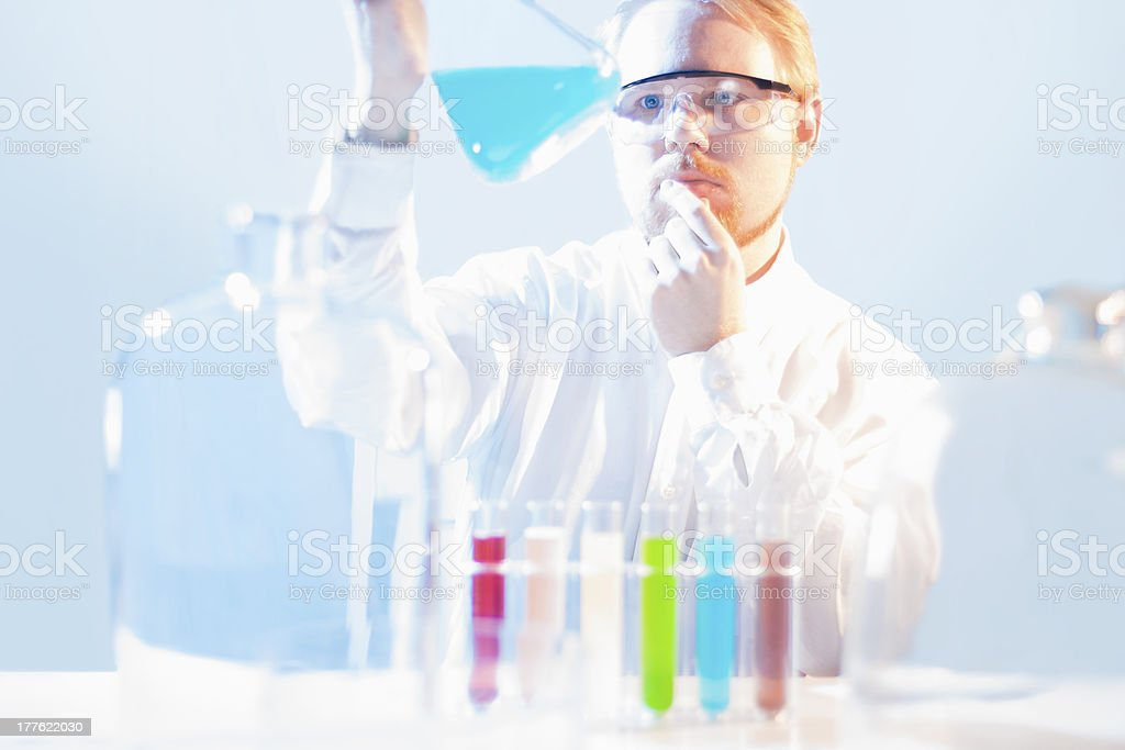 Researcher royalty-free stock photo