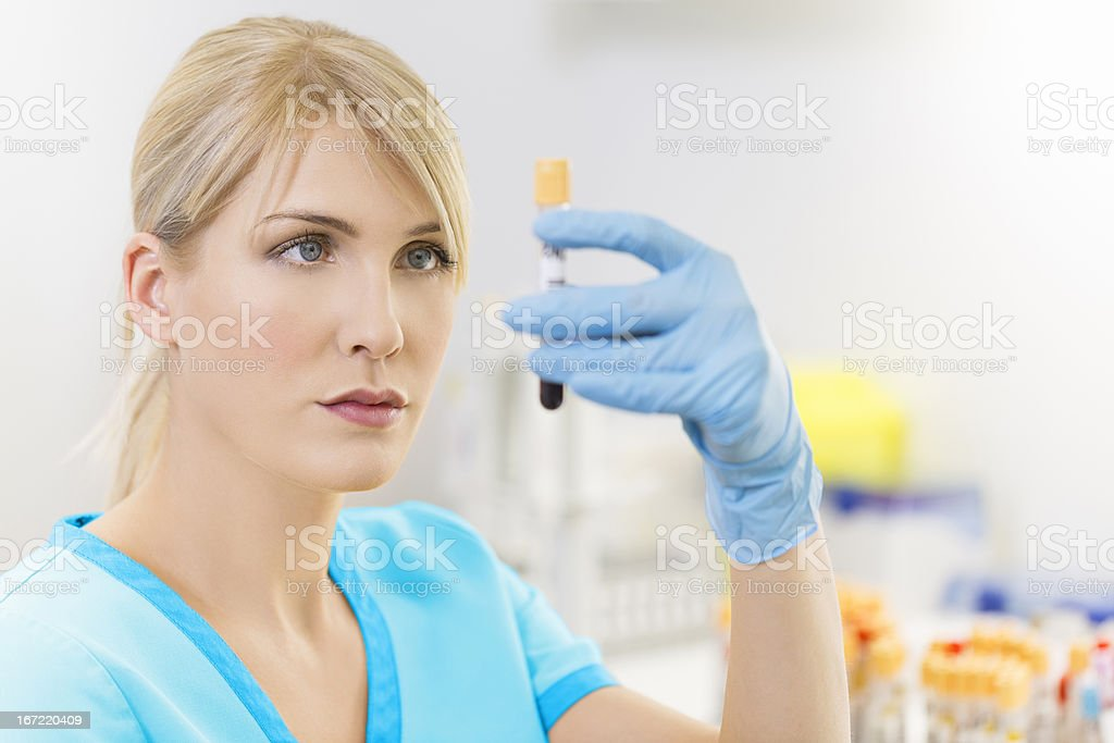 Researching in laboratory royalty-free stock photo