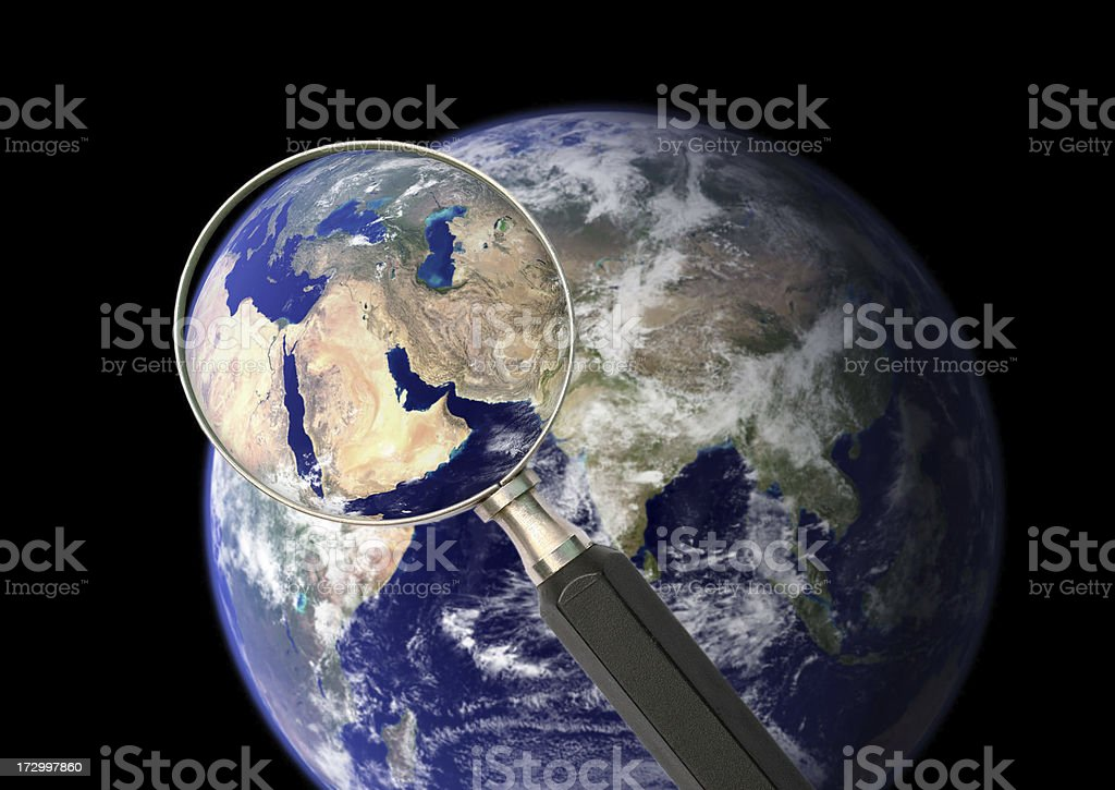 Researching our planet royalty-free stock photo