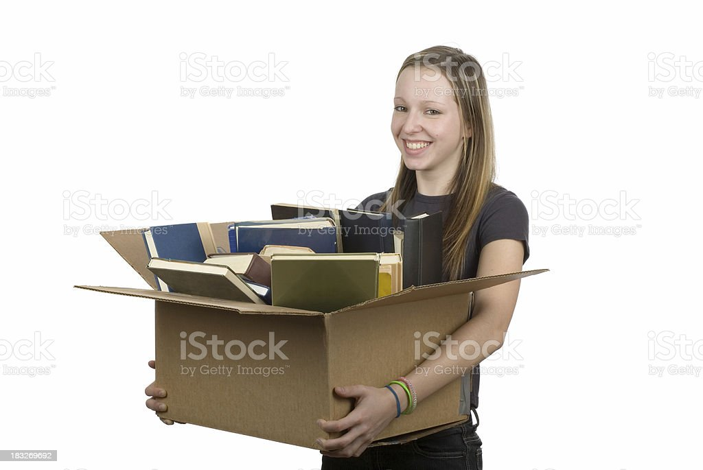 Reselling used books royalty-free stock photo
