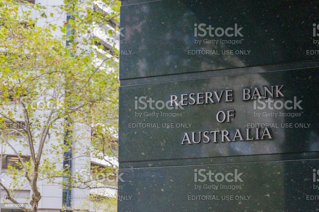 Reserve bank of Australia building in Melbourne CBD, Australia stock photo