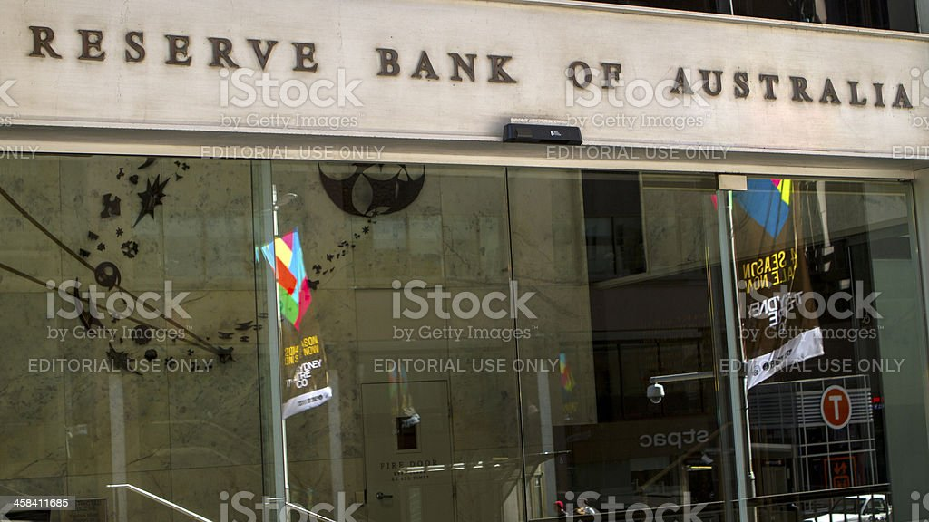 Reserve bank of Australia stock photo