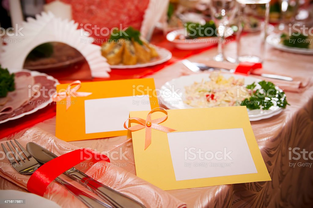Reserved card royalty-free stock photo
