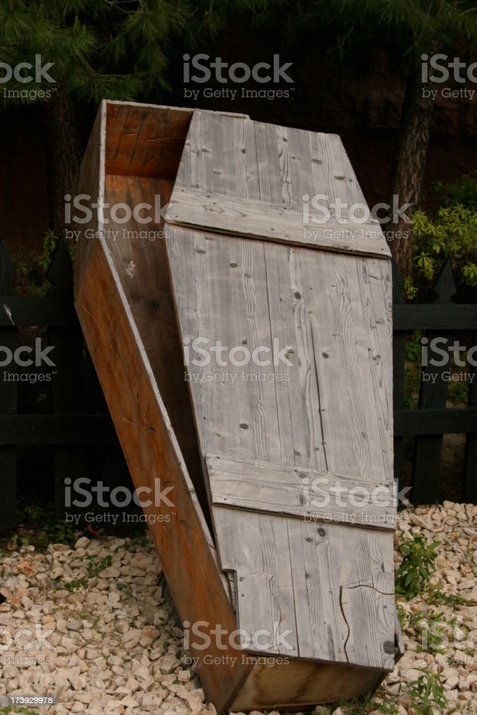 reserved coffin stock photo