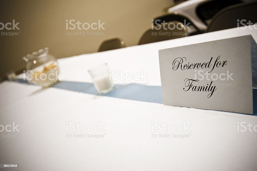 Reserved for Family royalty-free stock photo