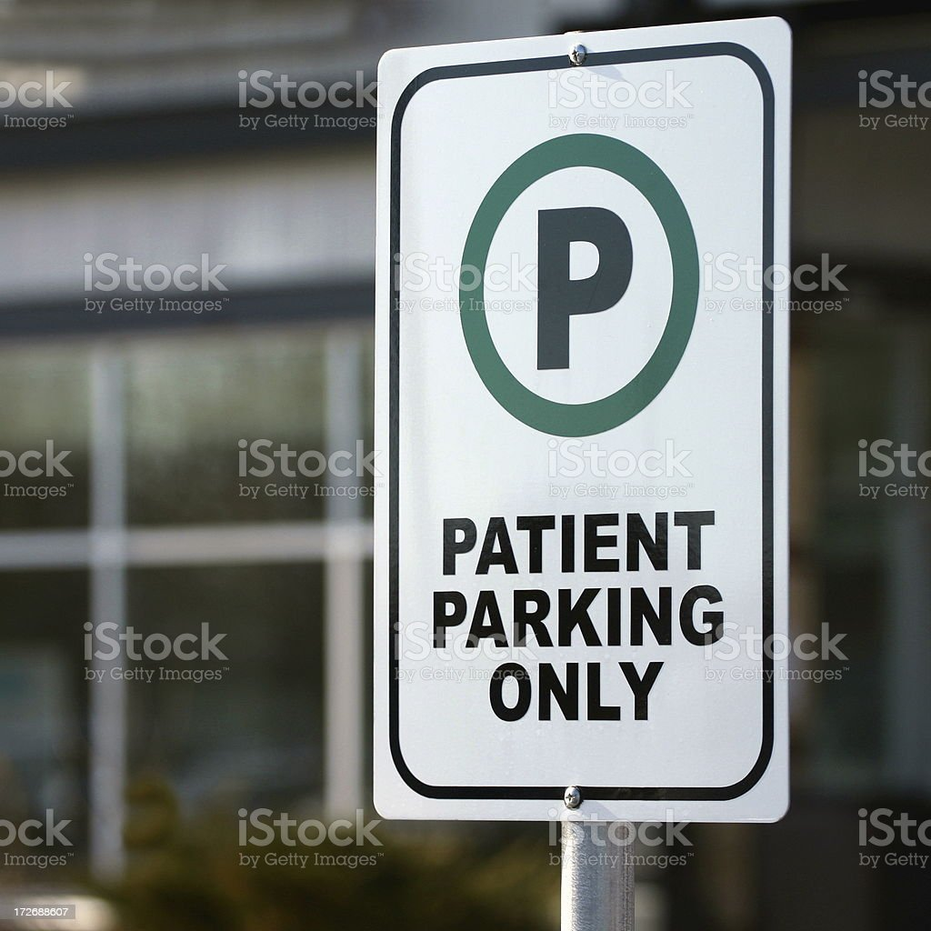 Reserved For Patient Drivers royalty-free stock photo