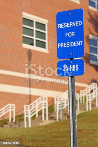 istock Reserved for president 186579595