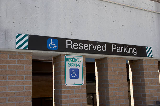 Reserved Parking stock photo