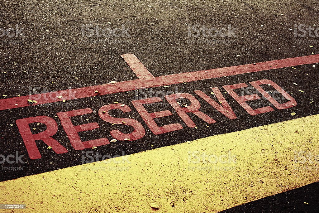 Reserved Parking Spot royalty-free stock photo
