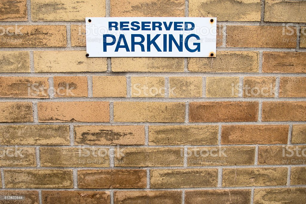 Reserved Parking Spot stock photo
