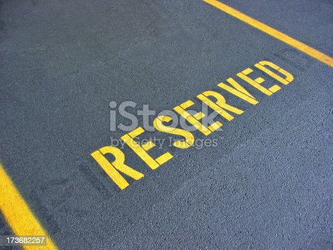 Reserved parking spot.