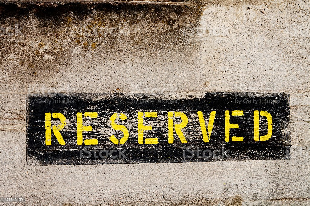 reserved royalty-free stock photo