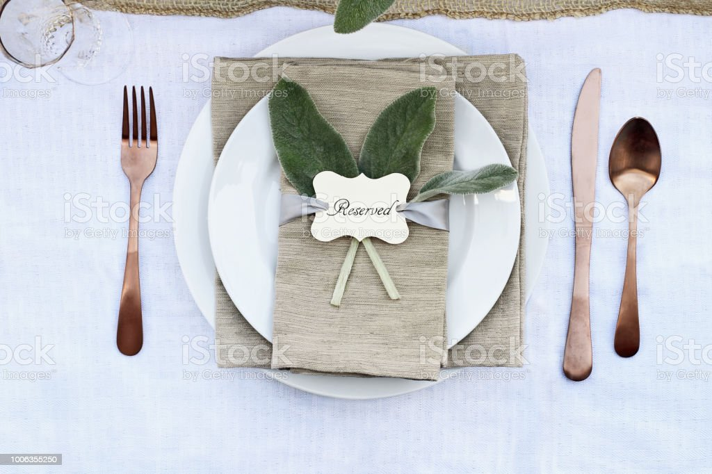 Reserved Place Setting stock photo