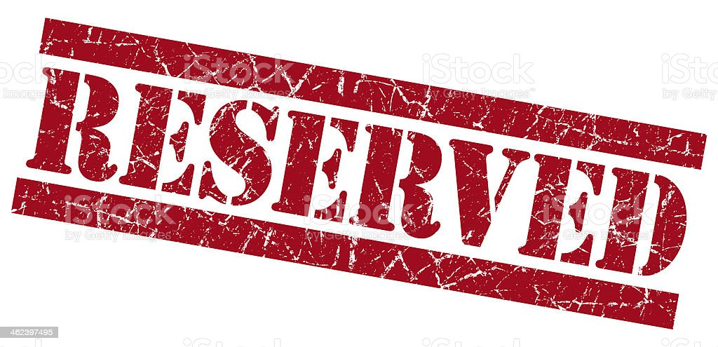Reserved red grunge stamp stock photo