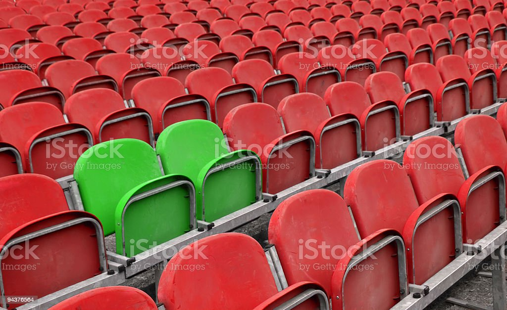 Reserved seats stock photo