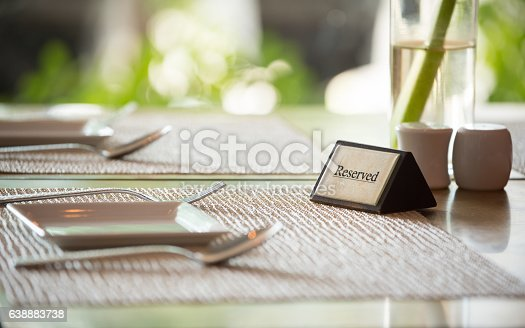istock Reserved sign 638883738