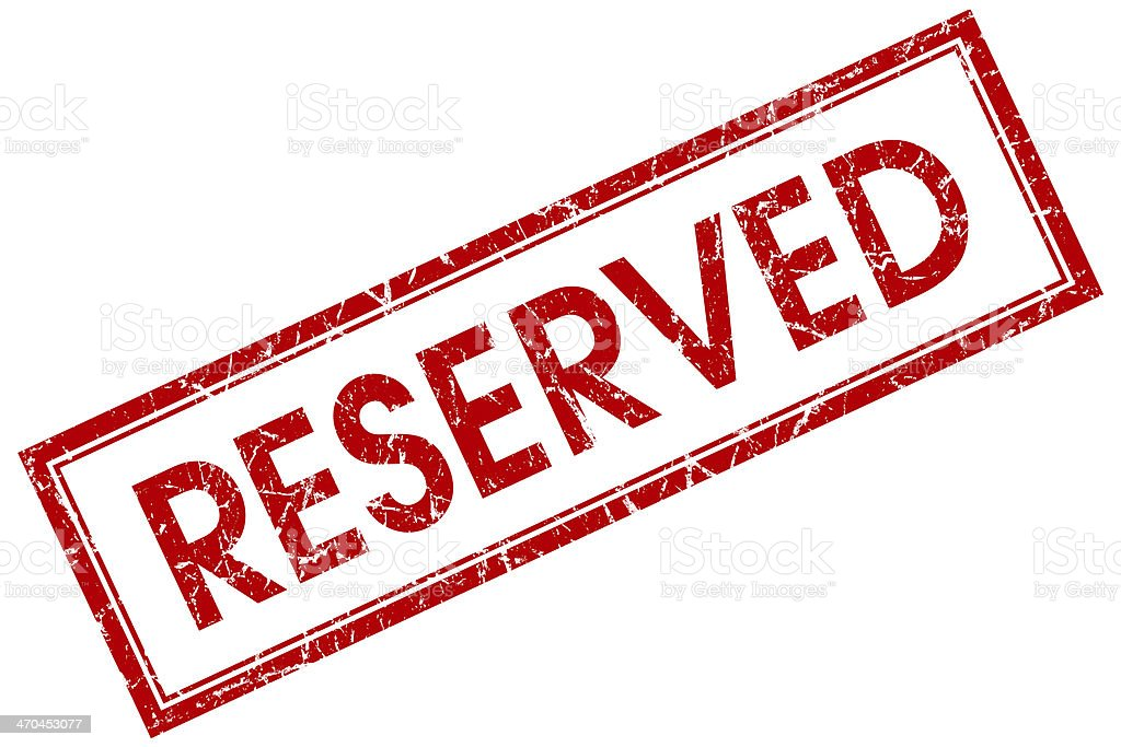 reserved square red grunge stamp stock photo
