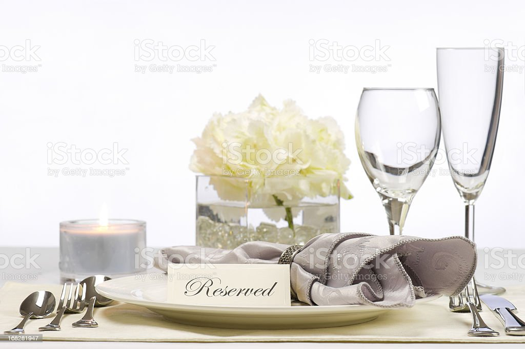 Reserved table royalty-free stock photo