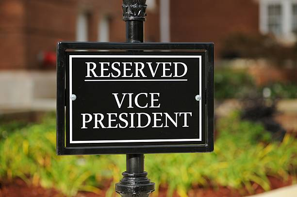 Reserved vice president stock photo
