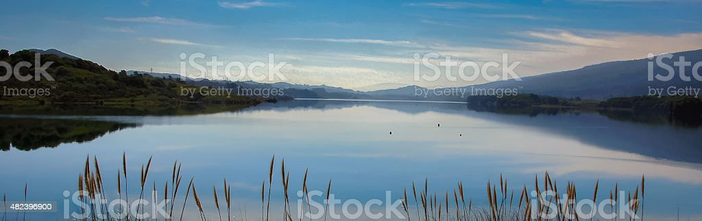 Reservoir and Reflection stock photo